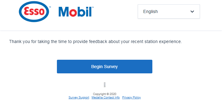 Esso Survey 2020 Homepage