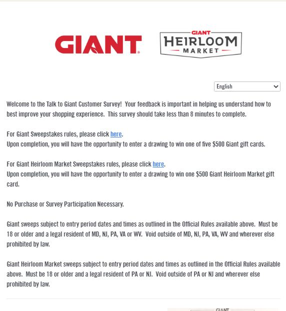 Talk To Giant Guest Survey